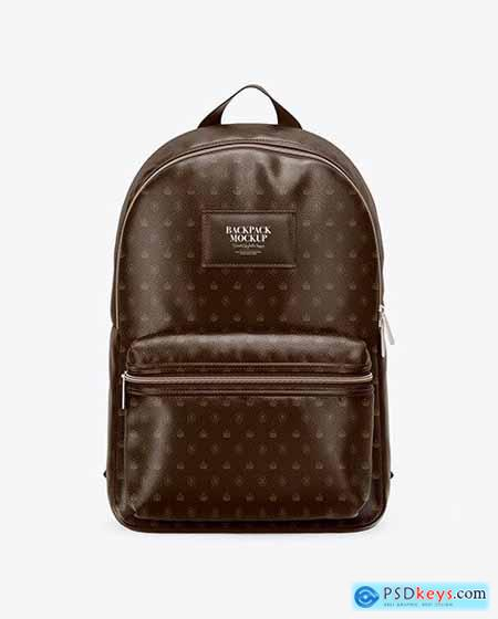 Leather Backpack Mockup - Front View 58709