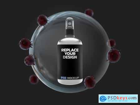 Alcohol spray corona virus mockup