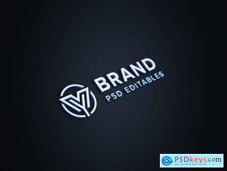 Logo mockup on paper