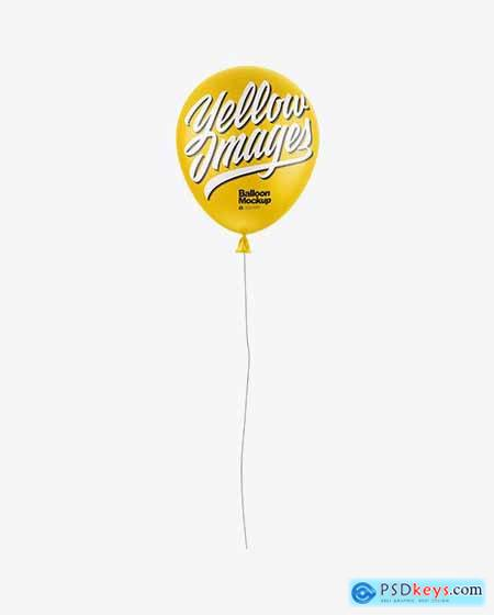 Matte Balloon Mockup 58624