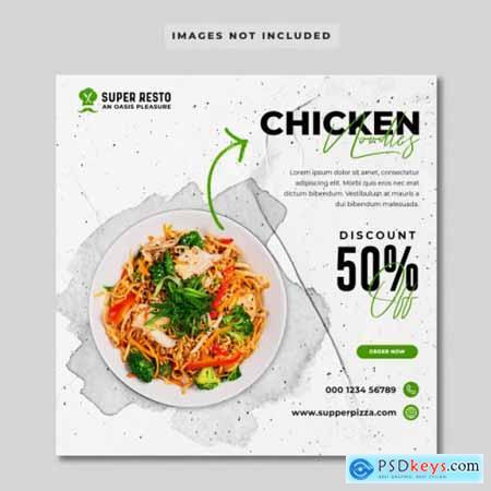 Food promotion social media banner