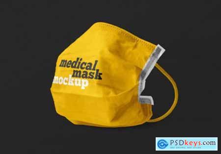 Medical mask advertising mockup 2