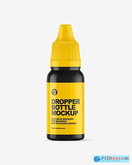 Glossy Dropper Bottle Mockup 57506