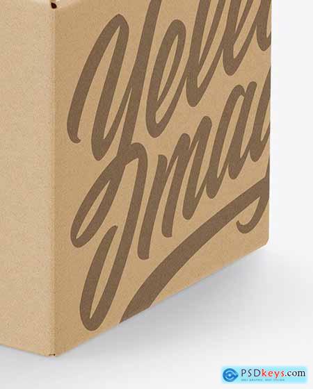 Kraft Paper Box Mockup 58734