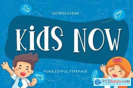 Kids Now Fun & Joyful Typeface