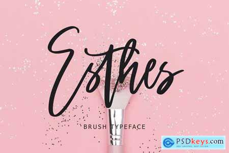 Esthes Brush Script Typeface