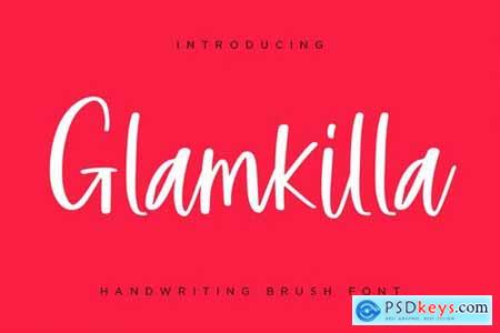 Glamkilla - Handwriting Brush Font