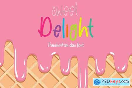 Sweet Delight - Handwritten Duo Font