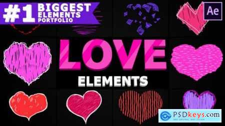 Cartoon Love Elements After Effects 25691388