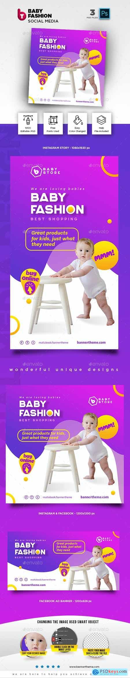Baby Fashion Social Media Pack 26435839