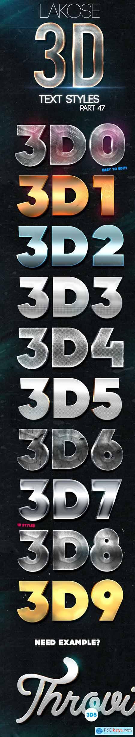 Lakose 3D Text Styles Part 47 24220050