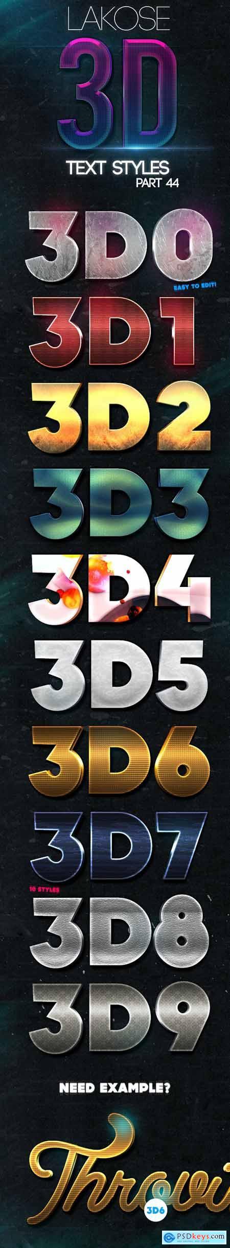 Lakose 3D Text Styles Part 44 23320161