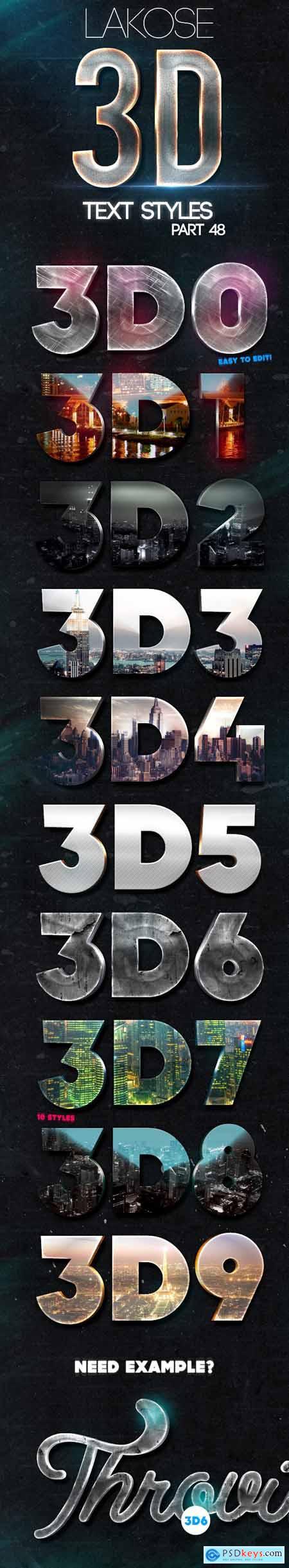 Lakose 3D Text Styles Part 48 24493556