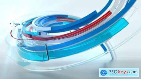 3d Ribbon Logo Reveal 25617189