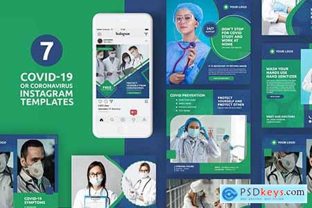 Coronavirus or Covid-19 Instagram Templates