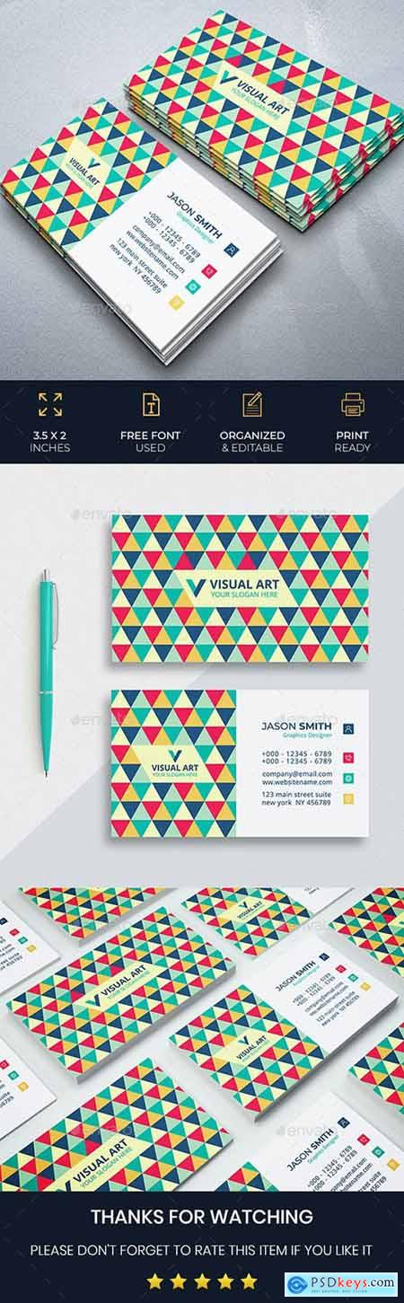 Elegant Colorful Business Card 26494155