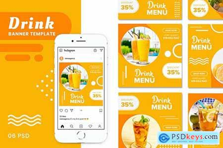 Drink Banners Templates