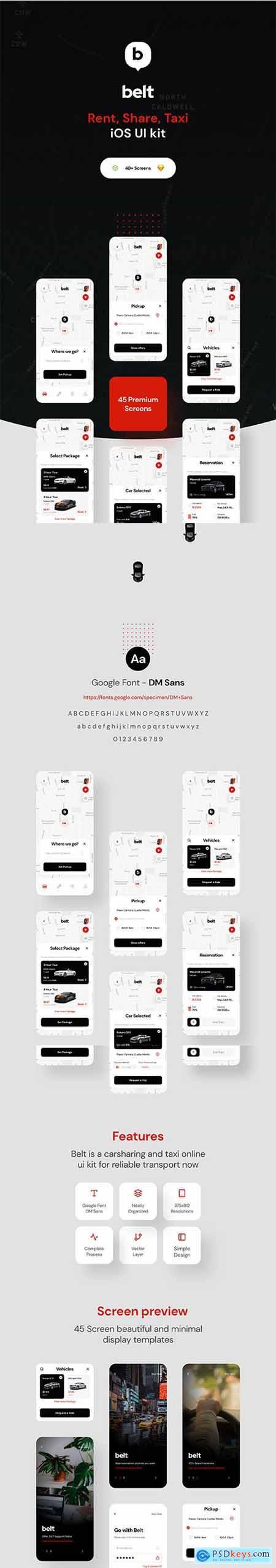 Belt App UI kit