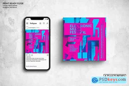 Event Square Flyer & Social Media Post Design