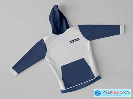 Top View of Hoodie Sweatshirt Mockup 346305217