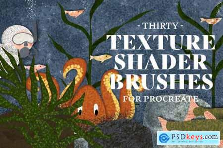 Texture Shader Brushes for Procreate 4377408