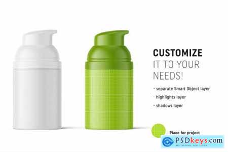 Matte airless bottle mockup 4850583