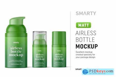 Matte airless bottle mockup 4850583