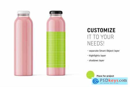 Smoothie bottle mockup 4851316
