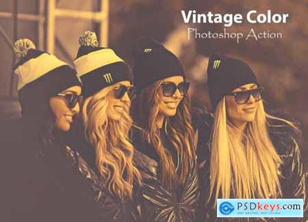 Vintage Color Photoshop Action 4755683
