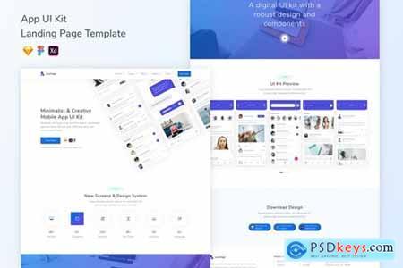 App UI Kit Landing Page Template