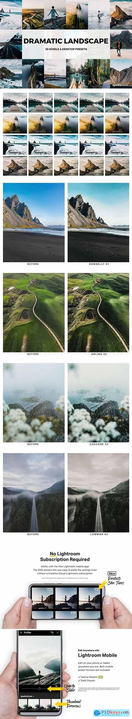 20 Dramatic Landscape Lightroom Presets and LUTs