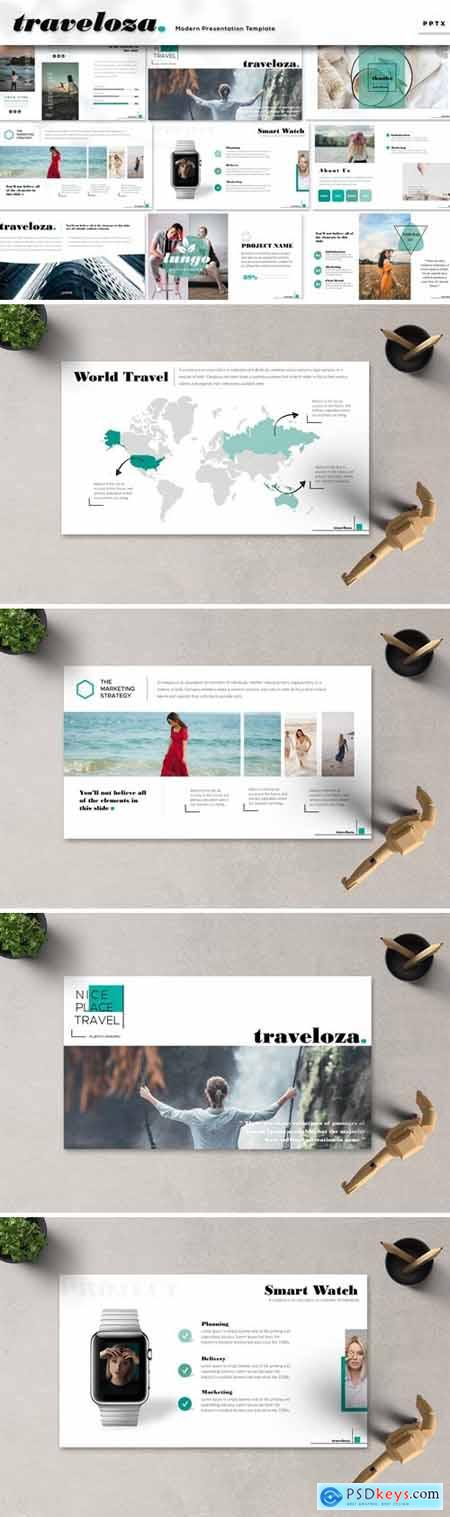 Traveloza Powerpoint, Keynote and Google Slides Templates