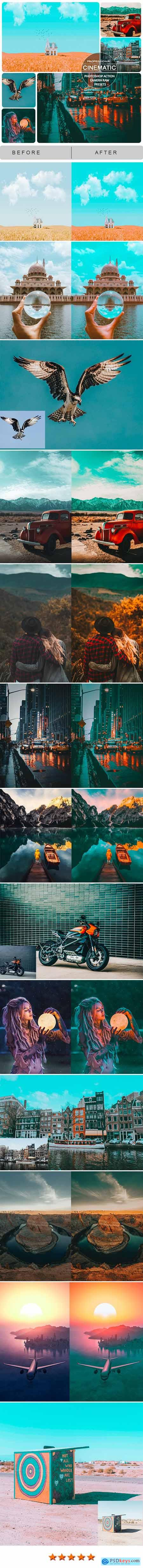 Professional Cinematic Action and Xmp Presets for Photoshop 25989687
