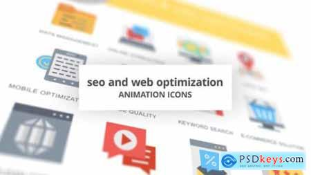 SEO and Web Optimization Animation Icons 26635085