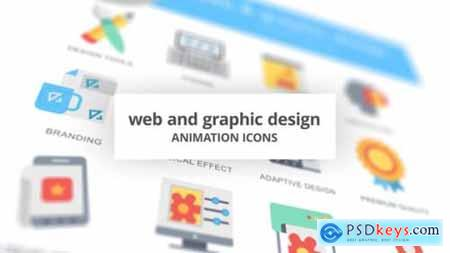 WEB and Graphic Design Animation Icons 26635322