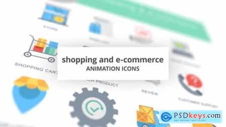 Shopping and E-Commerce Animation Icons 26635138