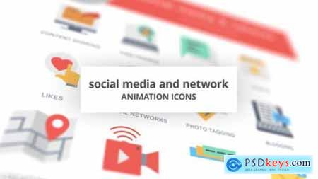 Social Media and Network Animation Icons 26635203
