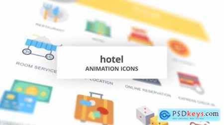Hotel Animation Icons 26634656