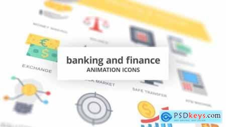 Banking and Finance Animation Icons 26634248