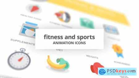 Fitness and Sports Animation Icons 26634646