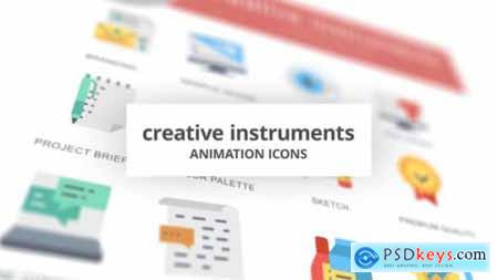 Creative Instruments Animation Icons 26634425