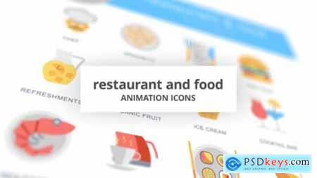 Restaurant and Food Animation Icons 26634696