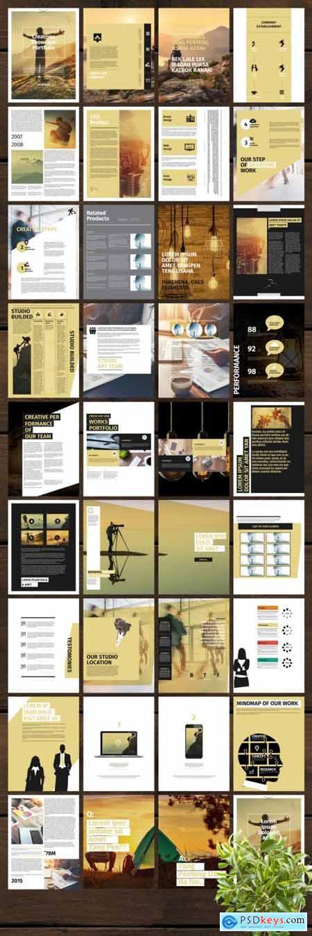 Clean Portfolio eBook Layout 348273141
