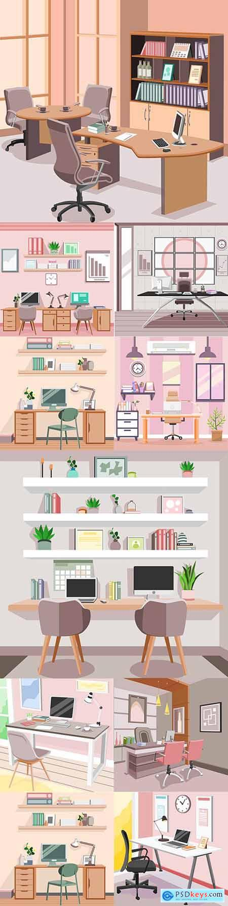 Creative workplace modern interior office and apartment