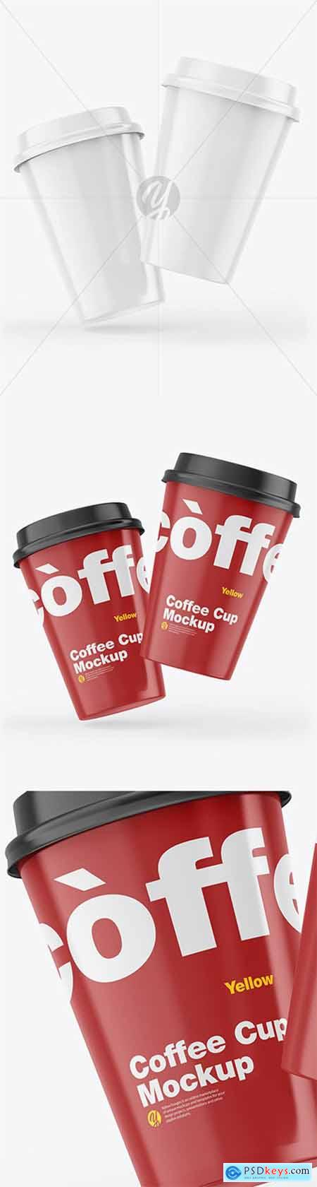 Glossy Coffee Cups Mockup 55451