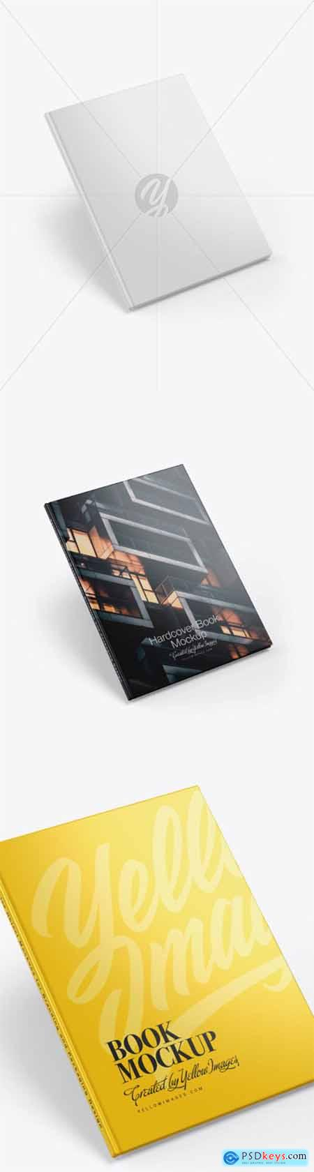 Hardcover Book w- Glossy Cover Mockup 55343