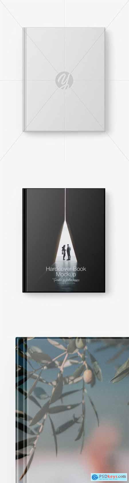 Hardcover Book w- Matte Cover Mockup 55473