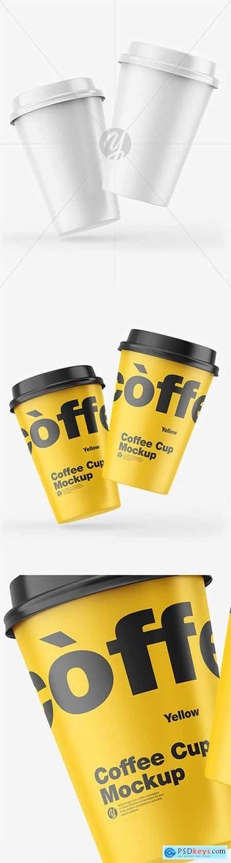 Matte Coffee Cups Mockup 55462