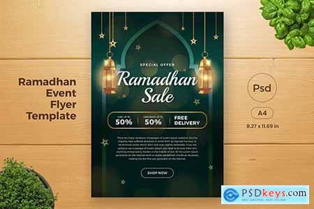 Ramadan Sales Promotion Flyer Template (GI2)