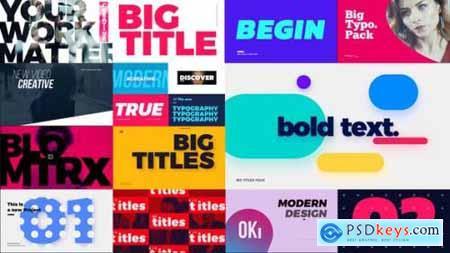 Big Bold Titles FCPX & Apple Motion 26661195